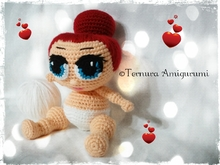Haakpatroon van pop LOL Surprise PDF english- deutsch- dutch ternura amigurumi