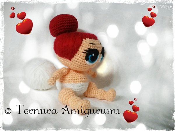 Crochet pattern doll, LOL Surprise PDF english- deutsch- dutch ternura amigurumi