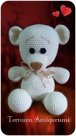 Crochet pattern of bear ternura amigurumi