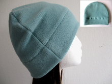 single layer fleece beanie hat pattern, 6 sizes