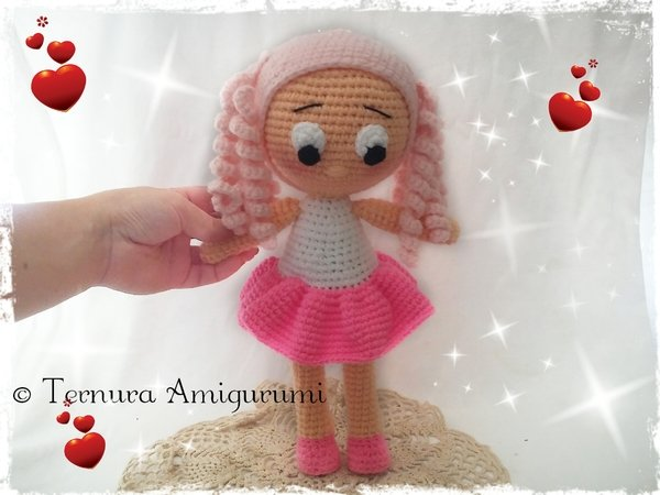 Crochet pattern doll NINNA pdf english- deutsch- dutch ternura amigurumi