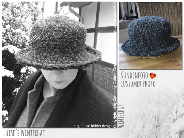 Luises Winter Hat Size M/L