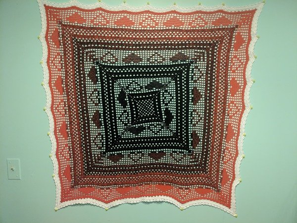Little Paths of Love - Square Blanket