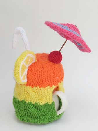 Cocktail Party Tea Cosy Knitting Pattern
