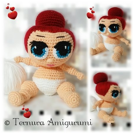 Crochet pattern doll baby pdf english- detsch- dutch