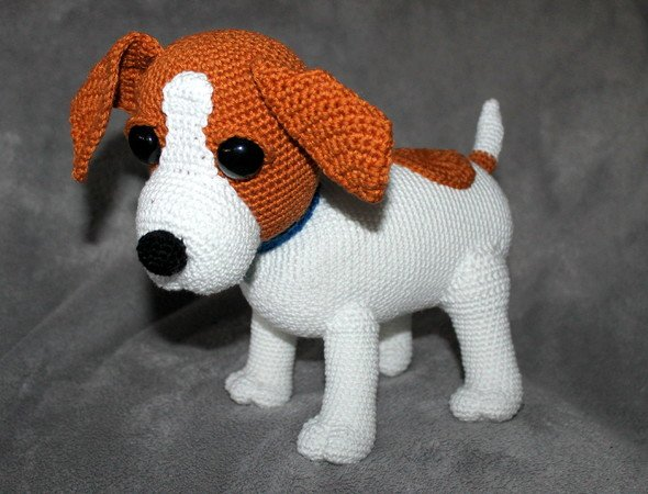 Amigurumi - Jack Russell Terrier Puppy (with pattern!) - CROCHET | 450x590