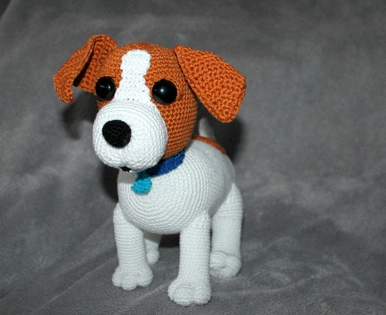 Sina the Jack Russel crochet pattern in english