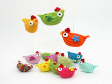 Mini Chicken Hanger - Crochet Pattern