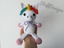 Emily the Unicorn and Unicorn Rattle - Crochet Pattern
