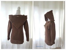 Crochet pattern hooded sweater