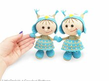 209 Crochet Pattern - Girl doll in an Owl outfit - Amigurumi PDF file by Stelmakhova CP