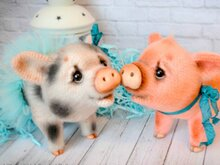 210 Crochet Pattern - Cute Little Pig - Amigurumi PDF file by Ogol CP