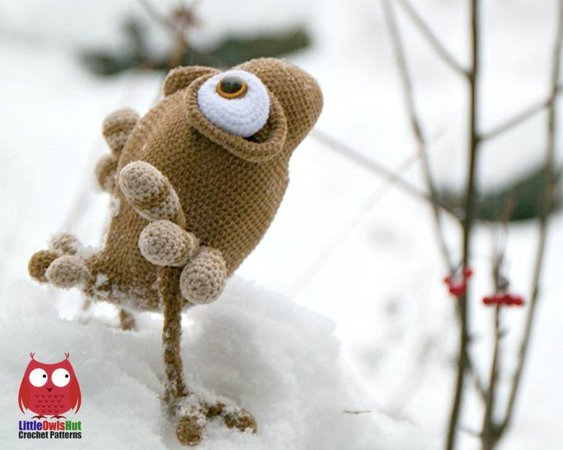 211 Crochet Pattern - Constantine the Sparrow - Amigurumi PDF file by Pertseva CP