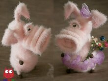 213 Crochet Pattern - Frosya the Pig - Amigurumi PDF file by Pertseva CP