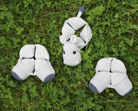hippo amish puzzle ball crochet pattern english version