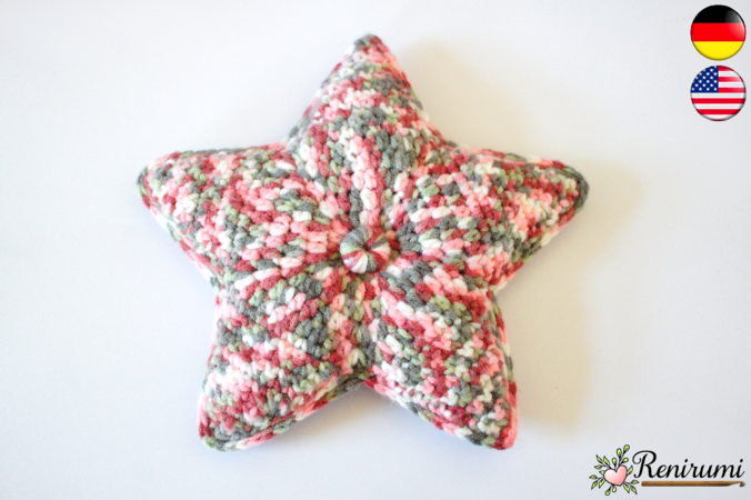Crochet pattern crackling star