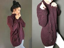 Strickanleitung Cardigan Strickjacke 2  S/M L/XL