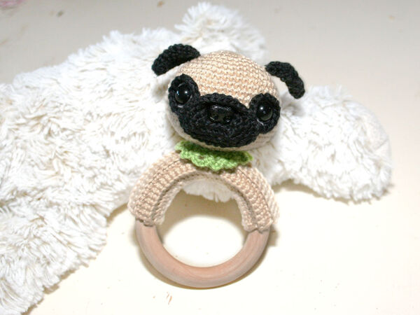 Barry, The Pug - Amigurumi Pattern - Delicious Crochet | 450x600