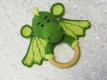 Crochet baby rattle dragon pattern