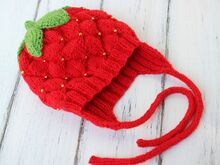 Strawberry Hat Knitting Pattern