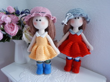 Doll crochet with dress pattern