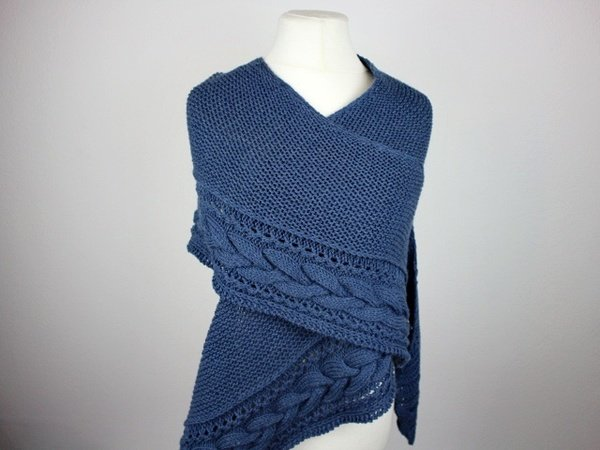 "Knitting pattern shawl ""Arround You"""