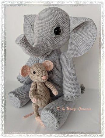 DIY-Anleitung: Amigurumi-Elefanten mit Hut und Ball selber häkeln ... | 450x345