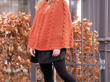 Pattern poncho Autumn