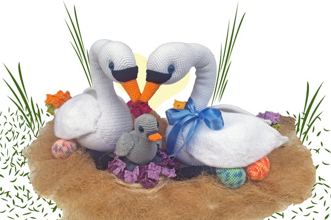 Swan Family Pattern Amigurumi PDF Deutsch - English - Dutch