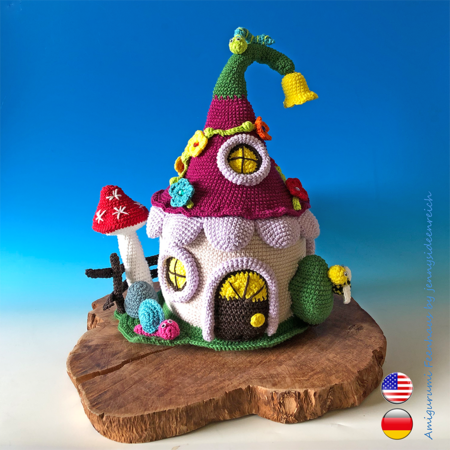 Crochet Pattern Fairyhouse, the Amigurumi Fairy House, by jennysideenreich