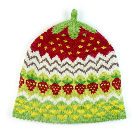Hat STRAWBERRY CAKE, knitting pattern in 2 sizes