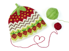 Babyhat STRAWBERRY MUFFIN, knitting pattern in 2 sizes
