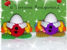 crochet pattern Egg-cup clown pdf ternura amigurumi english- deutsch- dutch