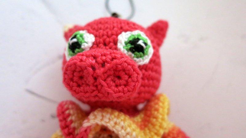 Pig piglet crochet animal pig farm keyring 21st birthday birthday ... | 450x800