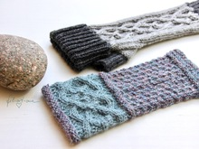 Wrist Warmers and Fingerless Mitts with Celtic Cables