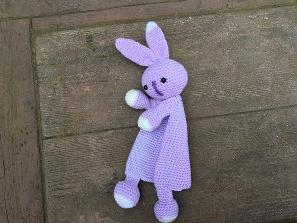 First Toy Amigurumi Toy Easter Rabbit Security Blanket Crochet Pattern