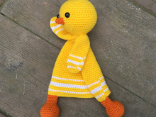 First Toy Amigurumi Toy Chicken Security Blanket Crochet Pattern
