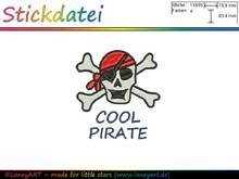 "**Stickdatei ""Pirat / Cool Pirate"" - Format: DST & PES**"