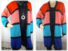 "Strickanleitung Longjacke ""Colour - Blocking"""
