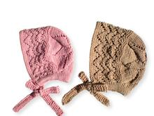 Baby Bonnet Hat - 2 Sizes - Knitting pattern