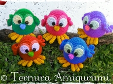 Crochet pattern sweet little bird pdf ternura amigurumi english- deutsch- dutch