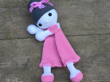 First Toy Amigurumi Toy Doll Julia Security Blanket Crochet Pattern
