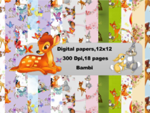 Bambi Digital Paper Pack