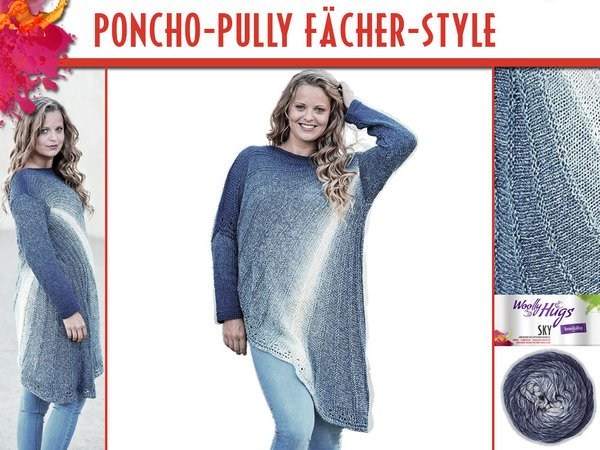 PONCHO-PULLY FÄCHER-STYLE