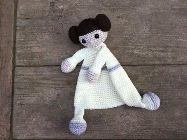 First Toy Amigurumi Toy Princess Leia Security Blanket Crochet Pattern