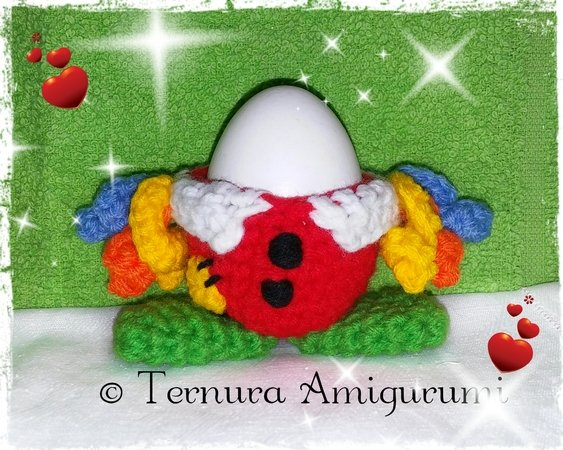 Crochet pattern of 3 egg cups, happy Easter!! 3PDF ternura amigurumi- english- deutsch- dutch