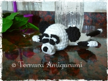 FREE Crochet pattern for panda bear coasters pdf ternura amigurumi english- deutsch