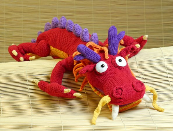 Chinese Dragon PDF Crochet Pattern US   Etsy   450x594