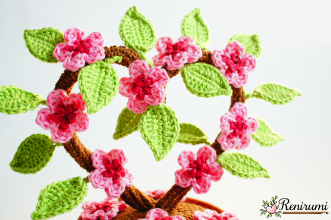 Crochet pattern Cherry Blossom Heart
