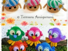 Vrienden van de tuin! Haakpatroon vogel + paddestoel pdf ternura amigurumi english- deutsch- dutch
